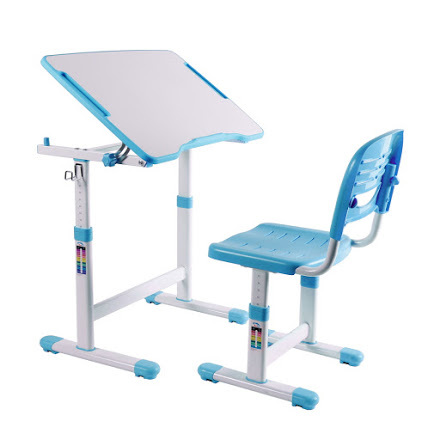 Комплект: парта и стул-трансформеры PICCOLINO II голубая