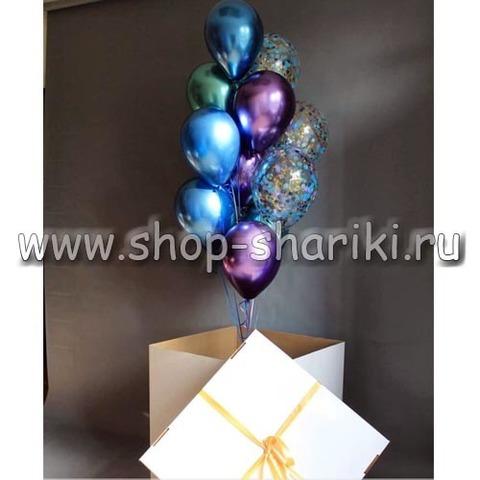 Коробка с шарами премиум