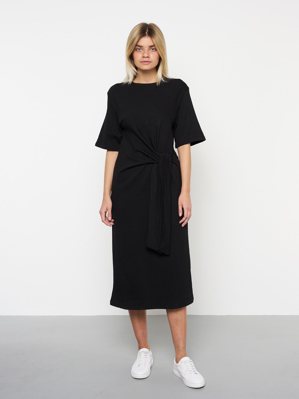 Платье-футболка с завязкой