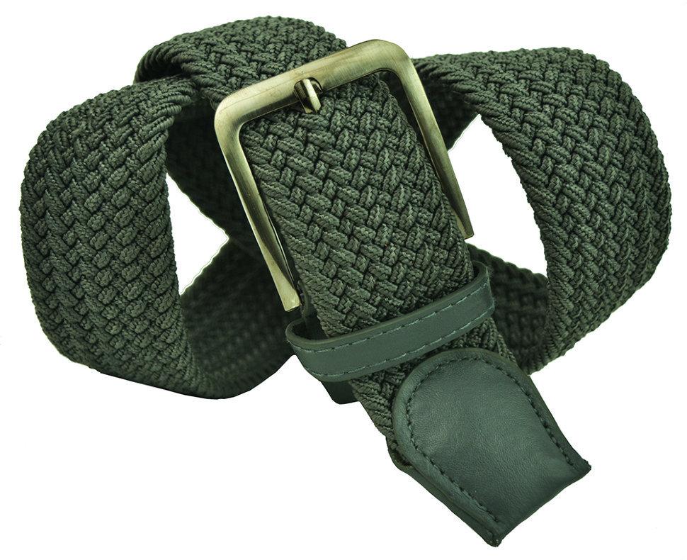 Ремень-резинка мужской текстильный серый 40 мм 40Rezinka-004