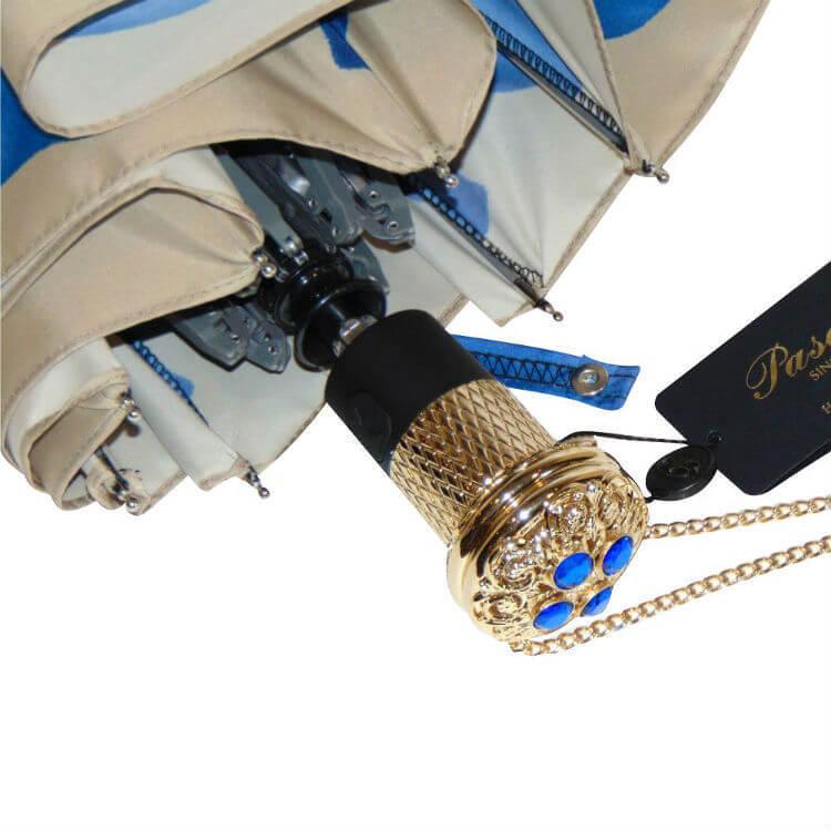 Зонт складной женский Pasotti 21065-13- B54 Blue Dahlia