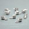 Концевик для шнура 3 мм, 10х5 мм (цвет - серебро), 10 штук