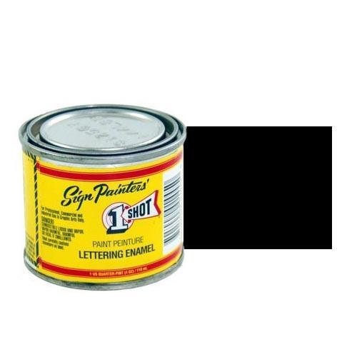 199-L Эмаль для пинстрайпинга 1 Shot Черный (Lettering Black), 118 мл