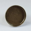 Основа для кольца с сеттингом для кабошона 25 мм (цвет - античная бронза)