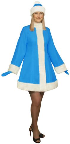 Костюм Снегурочки ярко-голубой