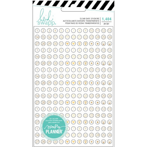 Сикеры ацетатные цифры - Heidi Swapp Memory Planner Clear Stickers Fresh Start - Date -1404 шт