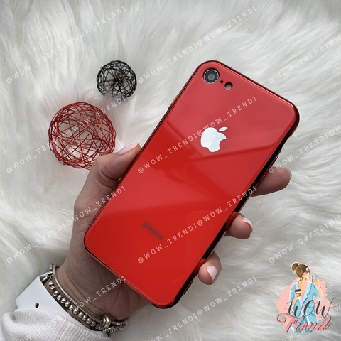Чехол iPhone 7/8 Glass Case Logo /red/