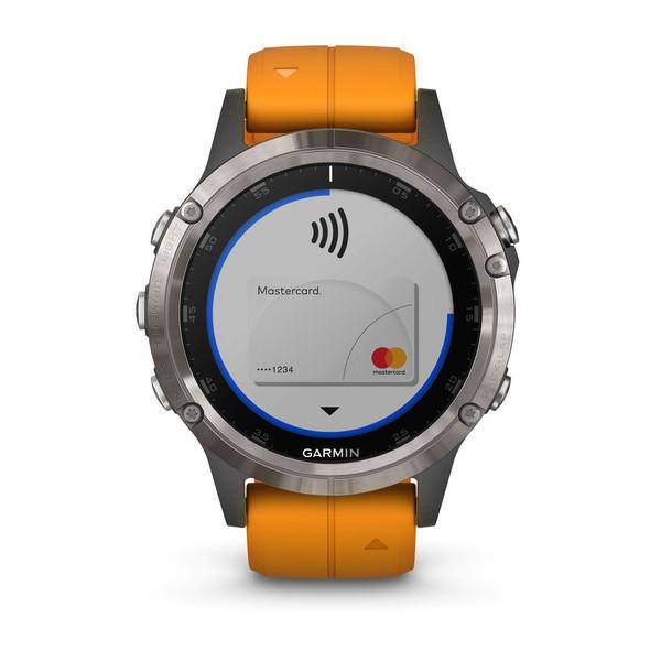 Fenix 5 Plus Sapphire титановый с оранжевым ремешком