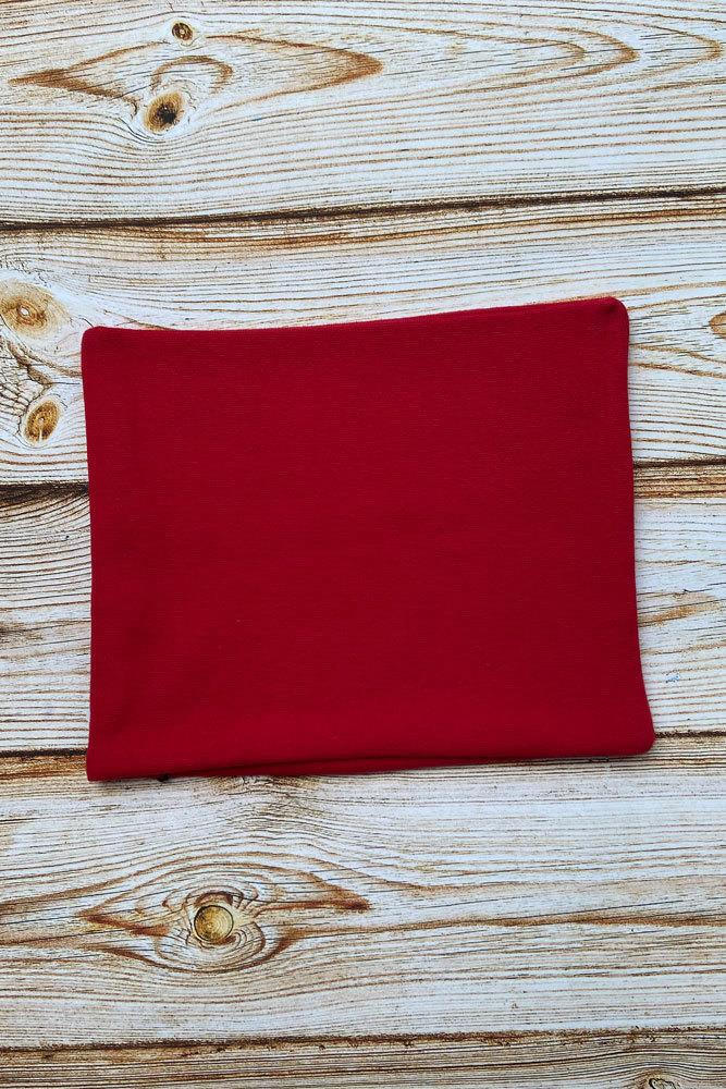 493-RSN Снуд трикотажный. Красный.