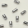 Концевик для шнура 1,5 мм, 4х2 мм (цвет - платина), 10 штук
