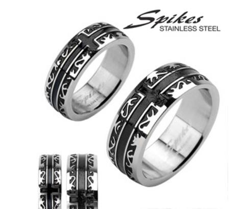Мужское кольцо «Spikes» из ювелирной стали, чернение