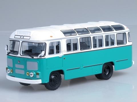 PAZ-672M white-green Soviet Bus 1:43