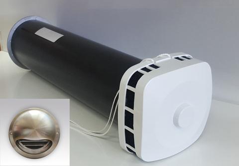 КИВ 125 1м с выходом стенным из нержавеющей стали и квадратным оголовком