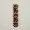 Разделитель на 5 нитей TierraCast (цвет-античная медь) 27х6х3 мм