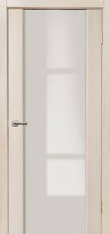Дверь Дера Оскар 981, стекло триплекс белый, цвет беленый дуб, остекленная