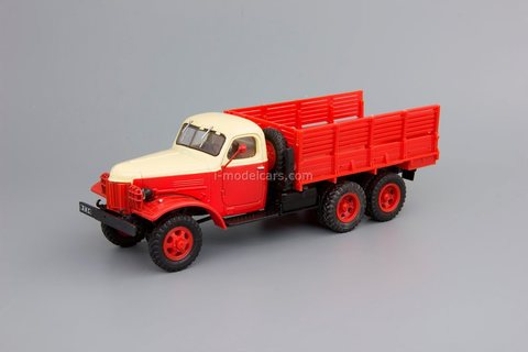 ZIS-151 emergency red-yellow 1:43 DeAgostini Auto Legends USSR Trucks #38