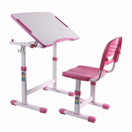Комплект: парта и стул-трансформеры PICCOLINO II розовая