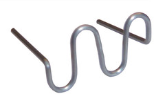 Скоба ЗМЕЙКА для ремонта пластика нержавейка Ø0,8 мм (100шт)