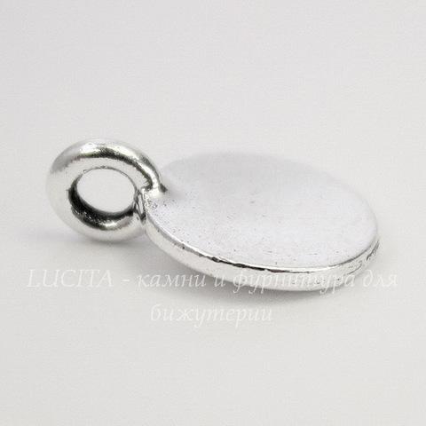 "Подвеска TierraCast ""Буква B"" (цвет-античное серебро) 17х12 мм"