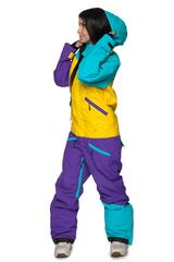 комбинезон COOL ZONE 17 MIX 3512/10 бирюза-желтый-темн.фиолет