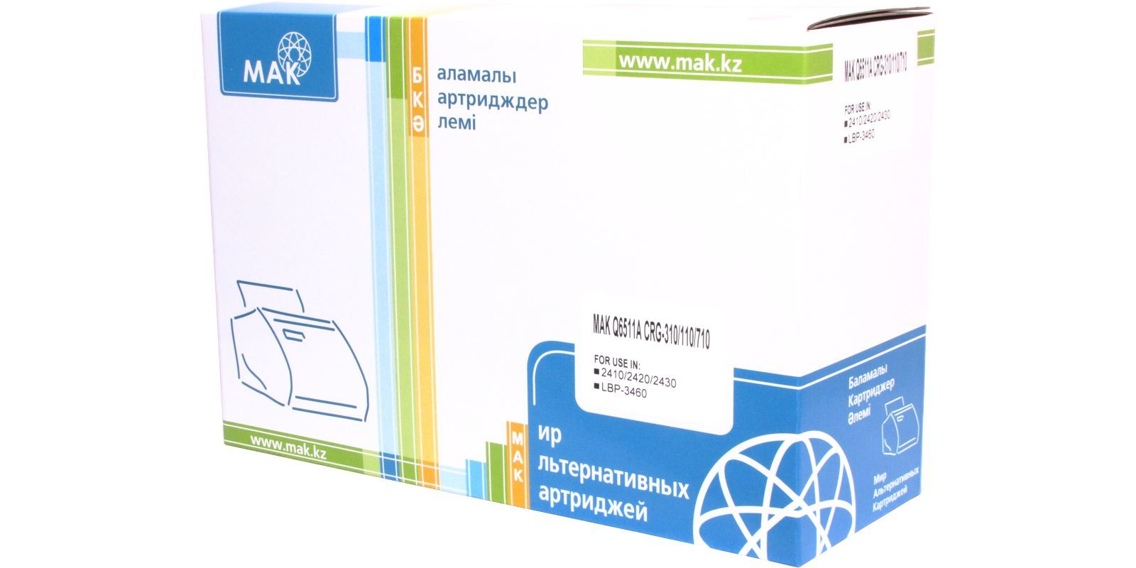 MAK №11A Q6511A/(Cartridge 710), черный, для HP/Canon, до 6000 стр.