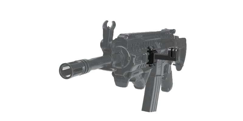 Крепление на оружие Fantaseal Picatinny Mount на автомате без камеры