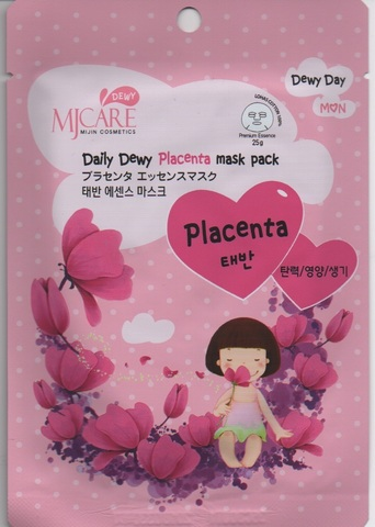 Mijin Daily Dewy Маска тканевая с плацентой Care Daily Dewy Placenta mask pack