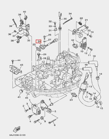 Разъем сигнальной лампы для лодочного мотора F20 Sea-PRO (12-24)