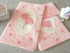Коврик для ванной DO&CO (60Х100 см/50x60 см) DANTEL фото цвет розовый