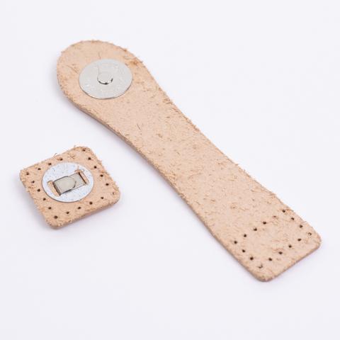 """Застежка для сумки """"Телесная"""" с магнитной кнопкой"""
