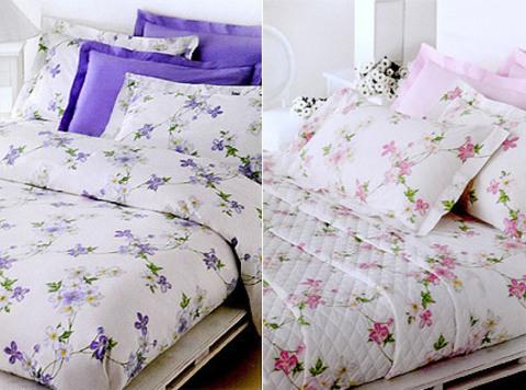 Постельное белье семейное Mirabello Vine Flowers лиловое