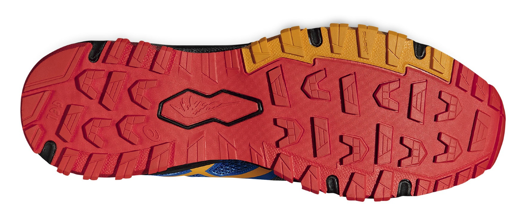 Мужские кроссовки внедорожники Asics Gel-FujiAttack 5 (T630N 9009) черные фото подошва