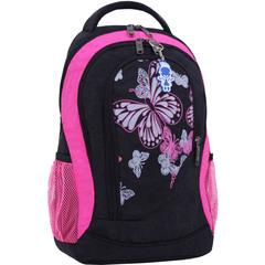 Рюкзак Bagland Бис 21 л. Чёрный / розовый (0055670)