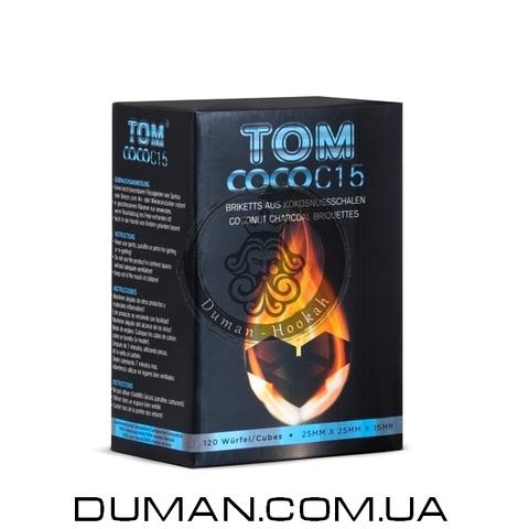 Натуральный кокосовый уголь для кальяна Tom Cococha Blue C15 (Том Кокоча) |1кг 120куб 25*15мм