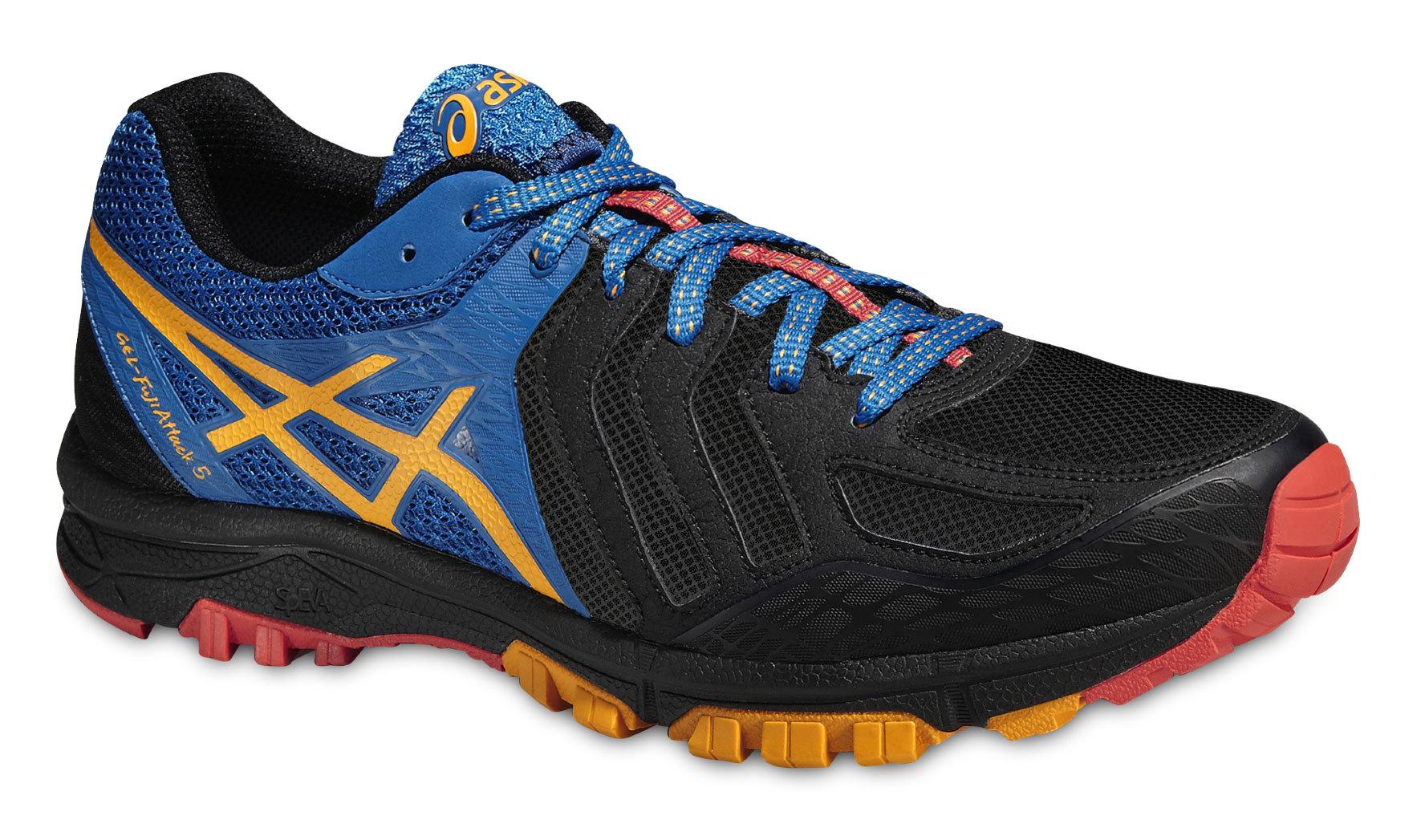 Мужские кроссовки внедорожники Asics Gel-FujiAttack 5 (T630N 9009) черные
