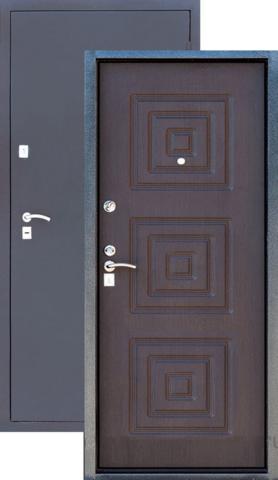 Дверь входная Зевс Z-4, 2 замка, 1,5 мм  металл, (серебро+венге)