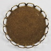 Сеттинг - основа для камеи или кабошона 20 мм (оксид латуни) (б1)