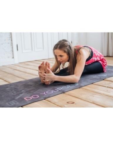 Коврик для йоги Black 183*61*0,3см из микрофибры и каучука