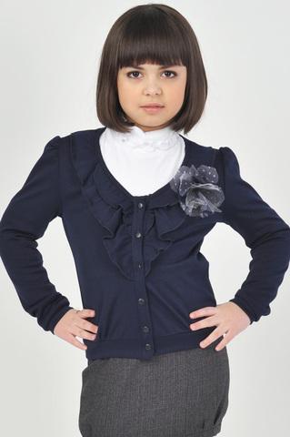 Лидер Жакет трикотажный для девочкиЛ-1980 синий