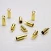 Концевик для шнура 2,2 мм, 8х3 мм (цвет - золото), 10 штук