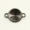 """Сеттинг - основа - коннектор TierraCast """"Грани"""" (1-1) для страза 12 мм (цвет-черный никель)"""