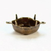 Сеттинг - основа - коннектор (1-1) для страза 12х12 мм (оксид латуни)