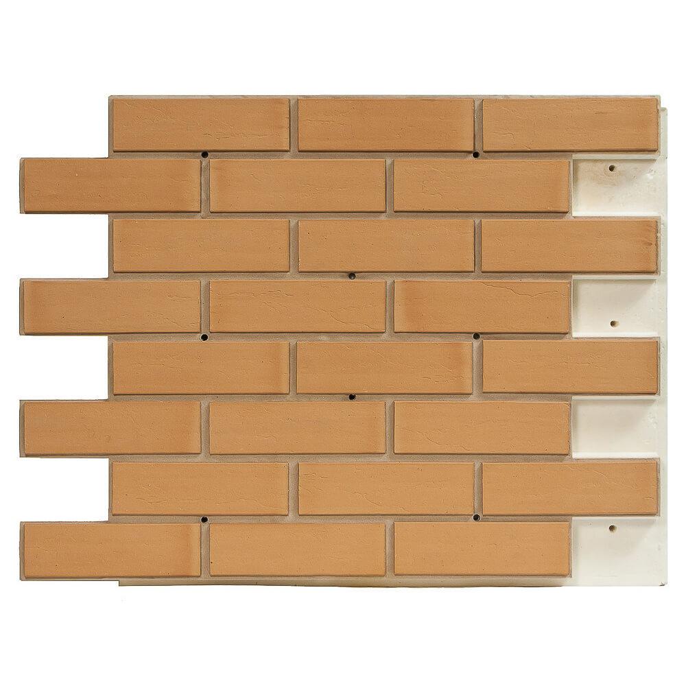 Термопанель фасадная клинкерная Регент, плитка Экоклинкер, цвет песок, толщина 40 мм