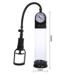 Мужская вакуумная помпа для увеличения члена с манометром Stallion (5,5 х 20 см см.)