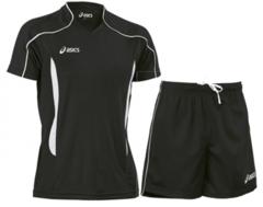 Мужская волейбольная форма Asics Volo Zone (T604Z1 9001-T605Z1 0090) черная