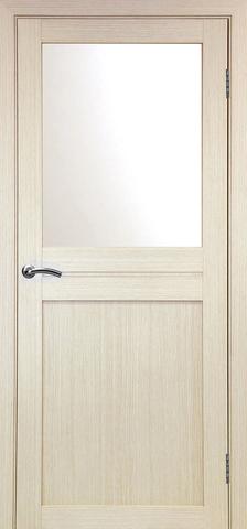> Экошпон Optima Porte Турин 520.211, стекло матовое, цвет беленый дуб, остекленная