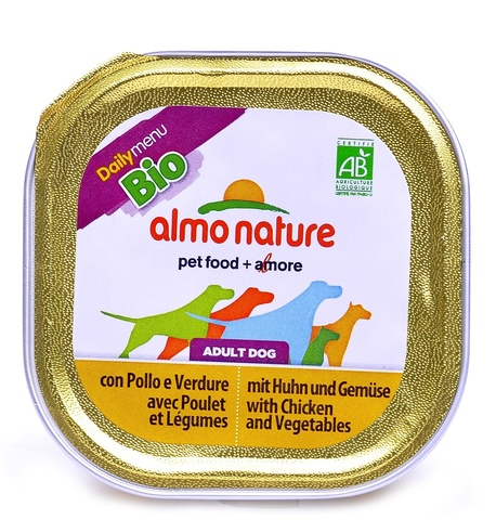 Консервы (ламистер) Almo Nature Daily Menu Bio - Pate Chicken&Vegetables