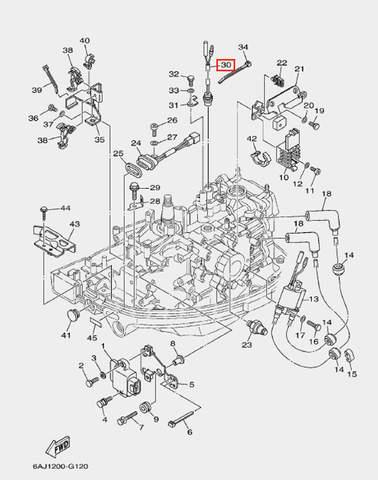 Датчик температурный для лодочного мотора F20 Sea-PRO (12-30)
