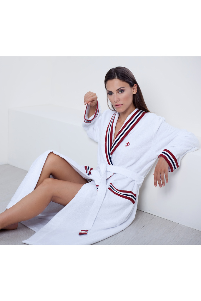 Белый махровый халат класса люкс Luna di Giorno