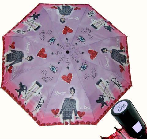Купить онлайн Зонт складной Perletti Chic 21195-3 Histoire d'Amour в магазине Зонтофф.